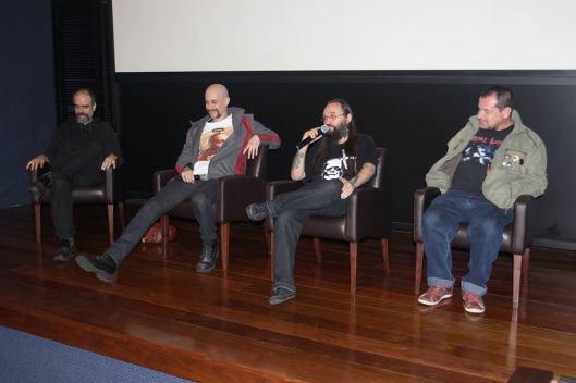 depois, o bate papo foi animado e nos relembrou histórias pitorescas sobre as filmagens e criações do filme.